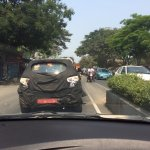 Mahindra S101 rear test mule spotted in Chennai, India