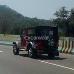 2015 Mahindra Thar Exterior rear three quarters spied