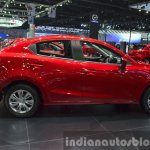 Mazda2 Sedan petrol variant side at the 2015 Bangkok Motor Show