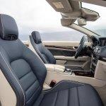 Mercedes E-Class Cabriolet front seats