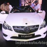 Mercedes E400 Cabriolet front from the launch in India