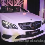 Mercedes E400 Cabriolet front three quarter from the launch in India