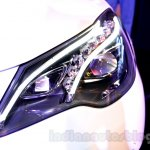 Mercedes E400 Cabriolet headlight from the launch in India