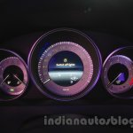 Mercedes E400 Cabriolet instrument binnacle from the launch in India