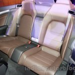 Mercedes E400 Cabriolet rear seat from the launch in India