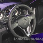 Mercedes E400 Cabriolet steering wheel from the launch in India