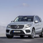 Mercedes GLE front three quarter official image