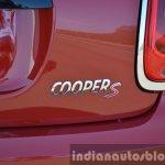 Mini Cooper S badge