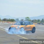 Mini Cooper S burnout