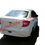 New Ford Figo sedan rear quarters spied India