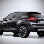 Nissan Kicks rear production version rendering