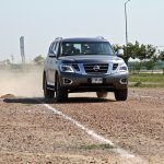 Nissan Patrol India showcase front three quarter