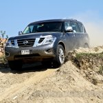 Nissan Patrol India showcase front three quarter(11)