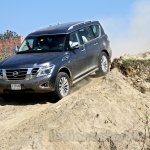 Nissan Patrol India showcase front three quarter(13)