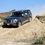 Nissan Patrol India showcase front three quarter(14)