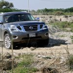 Nissan Patrol India showcase front three quarter(16)