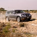 Nissan Patrol India showcase front three quarter(18)