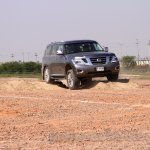 Nissan Patrol India showcase front three quarter(4)