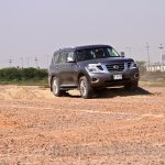 Nissan Patrol India showcase front three quarter(5)