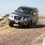 Nissan Patrol India showcase front three quarter(7)