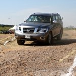 Nissan Patrol India showcase front three quarter(8)