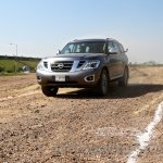 Nissan Patrol India showcase front three quarter(9)