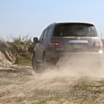 Nissan Patrol India showcase rear three quarter(3)