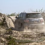 Nissan Patrol India showcase rear three quarter(5)