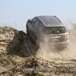 Nissan Patrol India showcase rear three quarter(7)