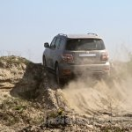 Nissan Patrol India showcase rear three quarter(8)