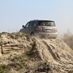 Nissan Patrol India showcase rear three quarter(9)