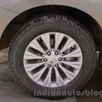 Nissan Patrol alloy wheel from its preview in India