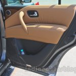 Nissan Patrol door pocket from its preview in India
