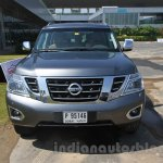 Nissan Patrol front from its preview in India