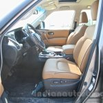 Nissan Patrol front seats from its preview in India