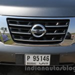 Nissan Patrol grille from its preview in India