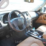 Nissan Patrol interior from its preview in India