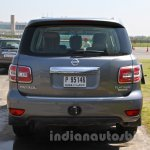 Nissan Patrol rear from its preview in India
