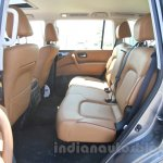Nissan Patrol rear seat from its preview in India