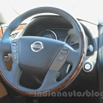 Nissan Patrol steering wheel from its preview in India