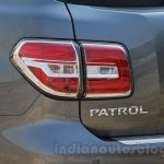 Nissan Patrol taillight from its preview in India