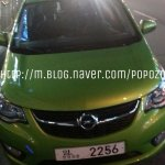 Opel Karl front fascia spotted in Korea