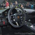 Porsche Cayman GT4 interior at the 2015 Geneva Motor Show