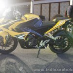 Bajaj Pulsar RS200 Yellow at Launch left side
