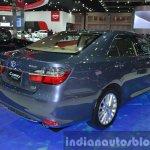 Toyota Camry Hybrid rear three quarter at the 2015 Bangkok Motor Show