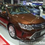 Toyota Camry facelift front three quarters left at the 2015 Bangkok Motor Show
