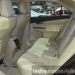Toyota Camry facelift rear seat at the 2015 Bangkok Motor Show