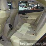Toyota Camry facelift rear seat at the 2015 Bangkok Motor Show
