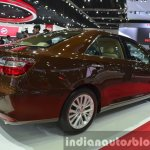 Toyota Camry facelift rear three quarters at the 2015 Bangkok Motor Show