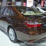 Toyota Camry facelift rear three quarters left at the 2015 Bangkok Motor Show